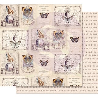 """Moon Child Foiled Double-Sided Cardstock 12""""X12""""-Phases Of The Moon"""