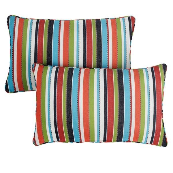 Sunbrella Carousel Confetti Corded Indoor Outdoor Pillows Set Of 2 On Sale Overstock 8843625