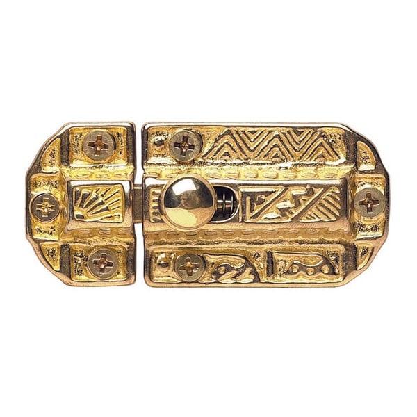 Renovator's Supply Victorian Slide Cabinet Latch Bright Solid Brass