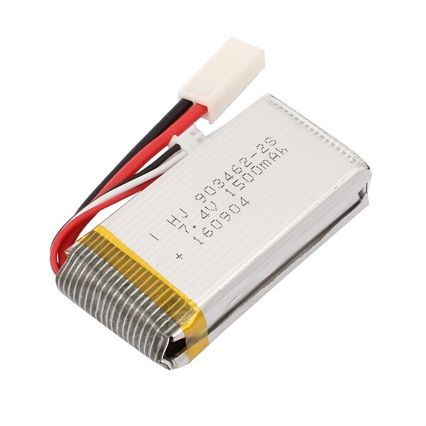 DC 7.4V 1500mAh Rechargable Lithium Polymer Battery Silver Tone