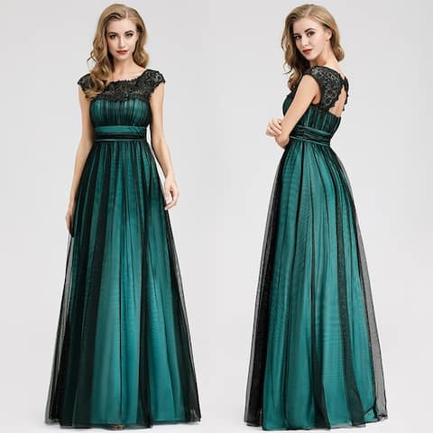 Ever-Pretty Womens Elegant Floral Lace Prom Dresses 07970