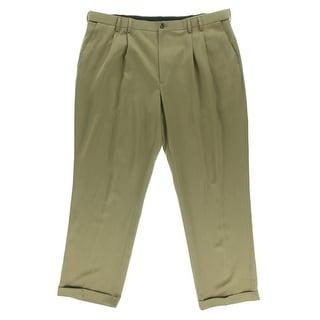 Izod Mens Cuffed Double Pleat Trouser Pants - 44/30