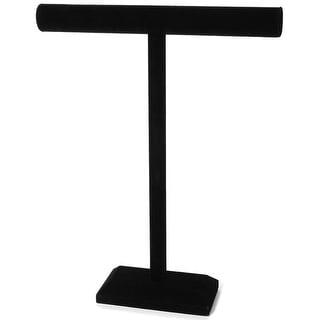 "Single Bar Jewelry Stand 18""X14""-Black Velvet - Black"