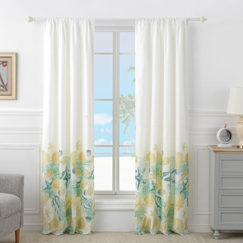 Barefoot Bungalow Grand Bahama Curtain Panel Pair (Set of 2 Panels)