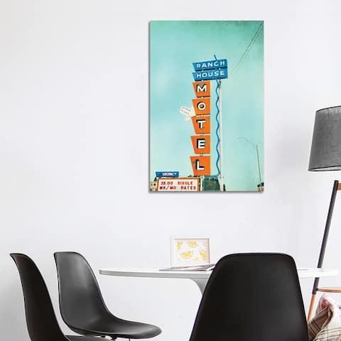 "iCanvas ""Ranch House Motel"" by Little Cabin Art Prints Canvas Print"