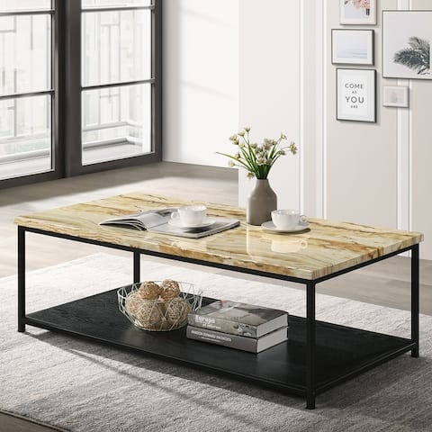 Furniture of America Vandy Contemporary Open Shelf Coffee Table