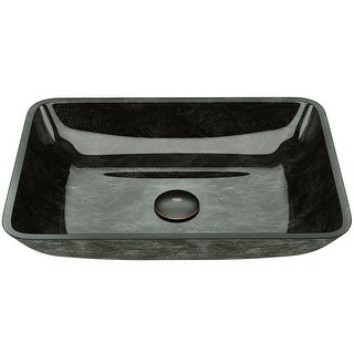 Link to VIGO Grey Onyx Glass Rectangular Vessel Bathroom Sink Similar Items in Sinks