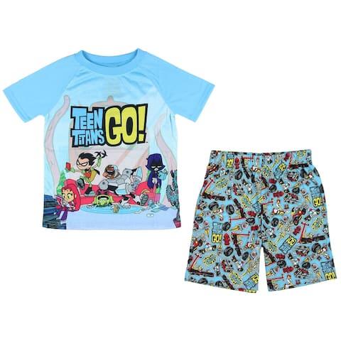 Teen Titans Go! Big Boys Chill 2 Piece Short Pajama Set
