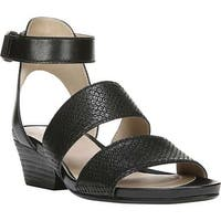 Naturalizer Women's Gracelyn Ankle Strap Sandal Black Leather