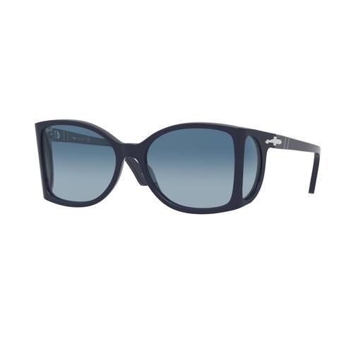 Persol PO0005 1109Q8 54 Blue Man Square Sunglasses