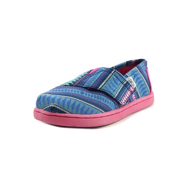 Toms Classic Toddler Round Toe Canvas Blue Loafer