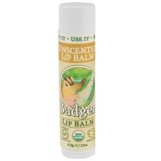 Badger Classic Organic Unsented Lip Balm Stick