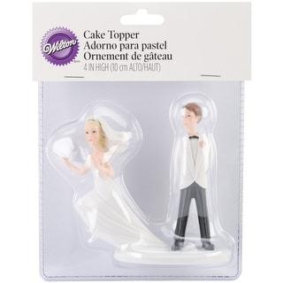 "Cake Topper 4""-Runaway Bride"