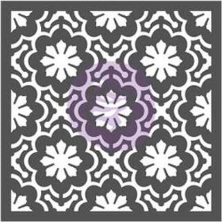 """Dainty Fleur - Prima Re-Design Decor Stencil 22""""X22"""""""