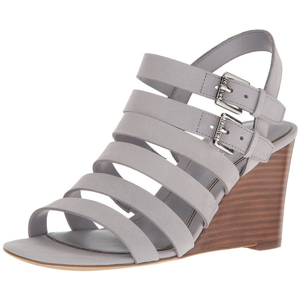 LAUREN by Ralph Lauren Womens Aleigh Leather Open Toe Casual Ankle Strap Sand...