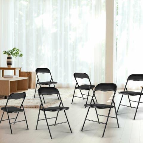 Folding chair Black-5 pieces