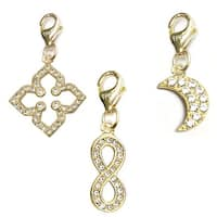 Julieta Jewelry Infinity Sign, Clover, Moon 14k Gold Over Sterling Silver Clip-On Charm Set