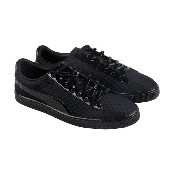 fc7d1b9433e6 Puma Basketxmeek Bike Life Mens Black Synthetic Lace Up Sneakers Shoes