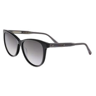 Bottega Veneta BV0021/S 001 Black Cateye Sunglasses