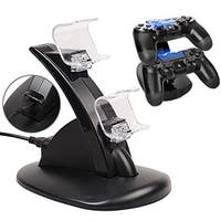 AGPtek Dual USB Charger Charging Docking Station Stand for Sony Playstation 4 PS4 Controller