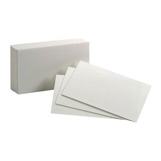 Oxford Blank Index Card, 3 x 5 Inch, White, Pack of 100