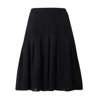 Kasper Women's Pleated Seam Crepe Skirt