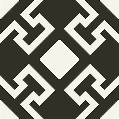 "Charonne Nero 8"" x 8"" Porcelain Patterned Wall & Floor Tile (Set of 29)"