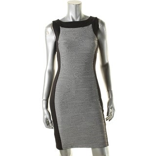 Calvin Klein Womens Casual Dress Wavy Textured - 10