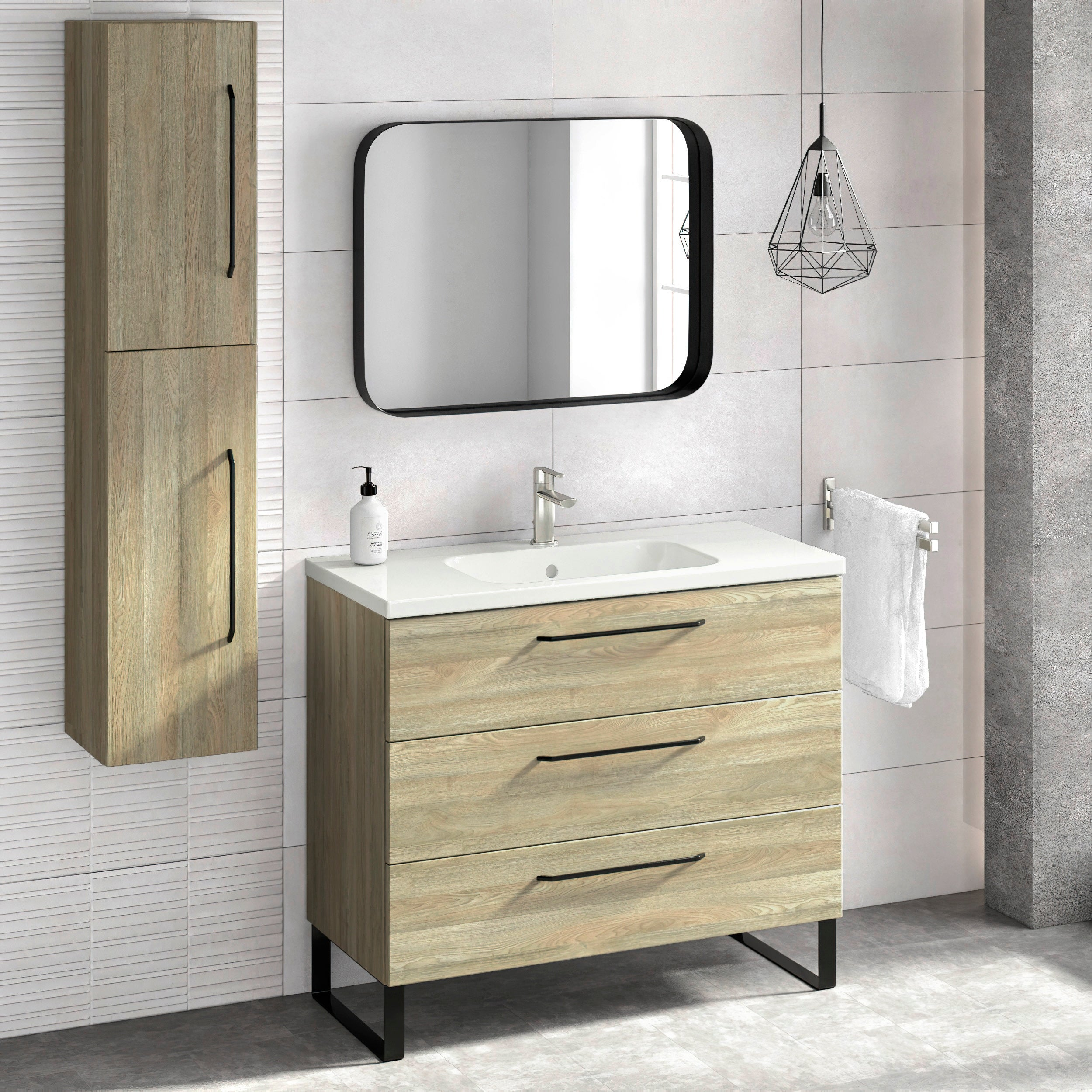 Shop For 40 Bathroom Vanity Freestanding Cabinet Sink Legs Denver 3 Drawers W40 X H35 X D18 In Toasted Oak Wood Get Free Delivery On Everything At Overstock Your Online Furniture Outlet Store Get 5 In Rewards With Club O 31758363