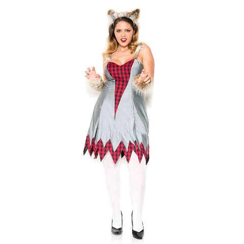 Plus Size Wicked Werewolf Costume - As Shown