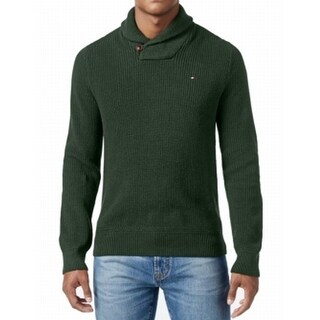 Tommy Hilfiger NEW Green Mens Size 2XL Harrington Shawl Collar Sweater