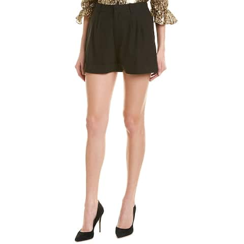Alice + Olivia Conry Linen-Blend Pleated Short