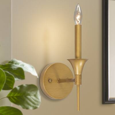 """Modern Transitional Gold Wall Sconce Vanity Lights for Bedroom, Hallway, Powder Room - L4.7""""* W10.6' xH6.7"""""""