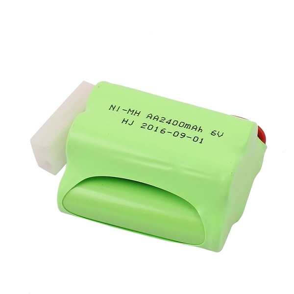 Green DC 6V 2400mAh Rechargable Ni-MH AA Battery Pack for RC Airplane Aircraft