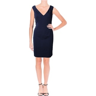 Lauren Ralph Lauren Womens Kaleighna Semi-Formal Dress V-Neck Sheath
