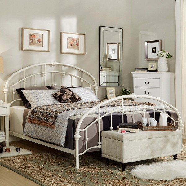 Lacey Round Curved Double Top Arches Victorian Iron Bed by iNSPIRE Q Classic. Opens flyout.