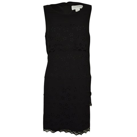 Jessica Simpson Women's Laser Cut Tier Dress - Black - 8
