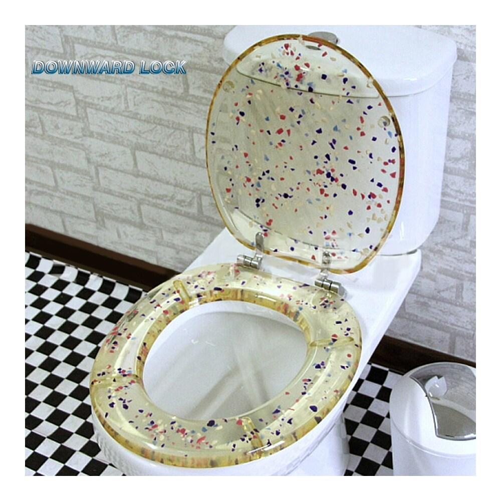 Fantastic Little Stone Resin No Slow Descent Toilet Seat Creativecarmelina Interior Chair Design Creativecarmelinacom