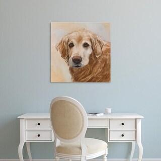 Easy Art Prints Edie Fagan's 'Chelsea Golden Retriever' Premium Canvas Art