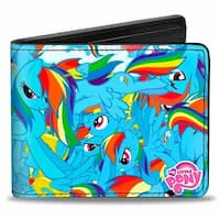 Rainbow Dash Poses Stacked Bi Fold Wallet - One Size Fits most