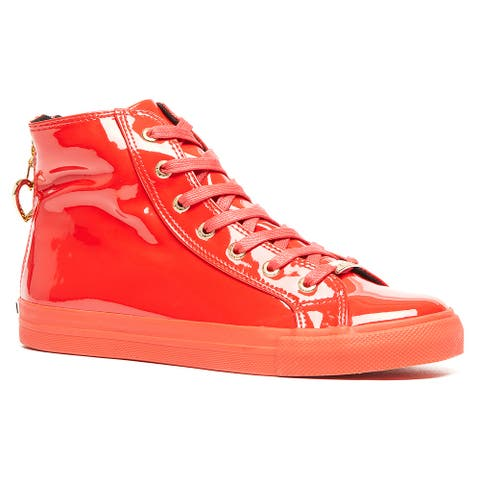 Love Moschino Black High Top Classic Patent Sneakers