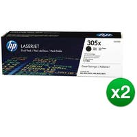 HP 305X Black High Yield Original LaserJet Toner Dual Cartridge (CE410XD)(2-Pack)