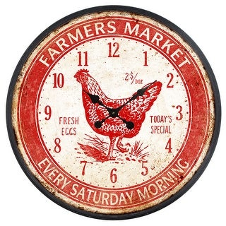 Link to Yosemite Home Decor Farmers Market Red  Wall Clock - 3 x 23.6 x 23.6 Similar Items in Decorative Accessories