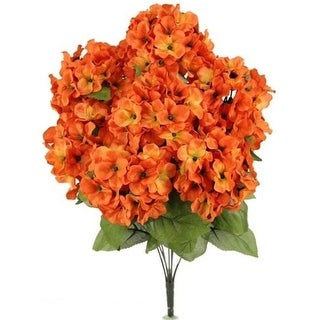Admired by Nature GPB730-PUMPKIN Artificial Full Blooming Stain Hydrangea Pumpkin