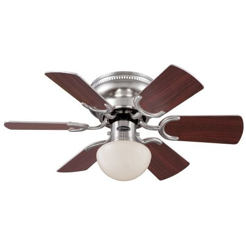"Westinghouse 7800500 Petite 30"" 6 Blade Hugger Indoor Ceiling Fan with Blades an"