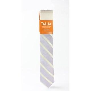 Tallia NEW Lavendar Purple Yellow One Size Striped Woven Neck Tie