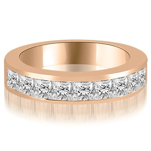 1.80 cttw. 14K Rose Gold Princess Diamond 9-Stone Channel Wedding Band