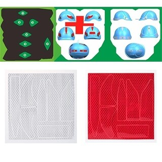 Portwest PA91RER Reflect Helmet Stickers, Red - Pack of 10