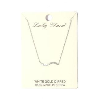 Wavy Metal Bar Necklace