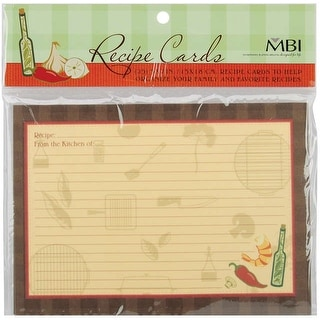 "MBI Family Recipes Additional Cards 25/Pkg-5""X7"""